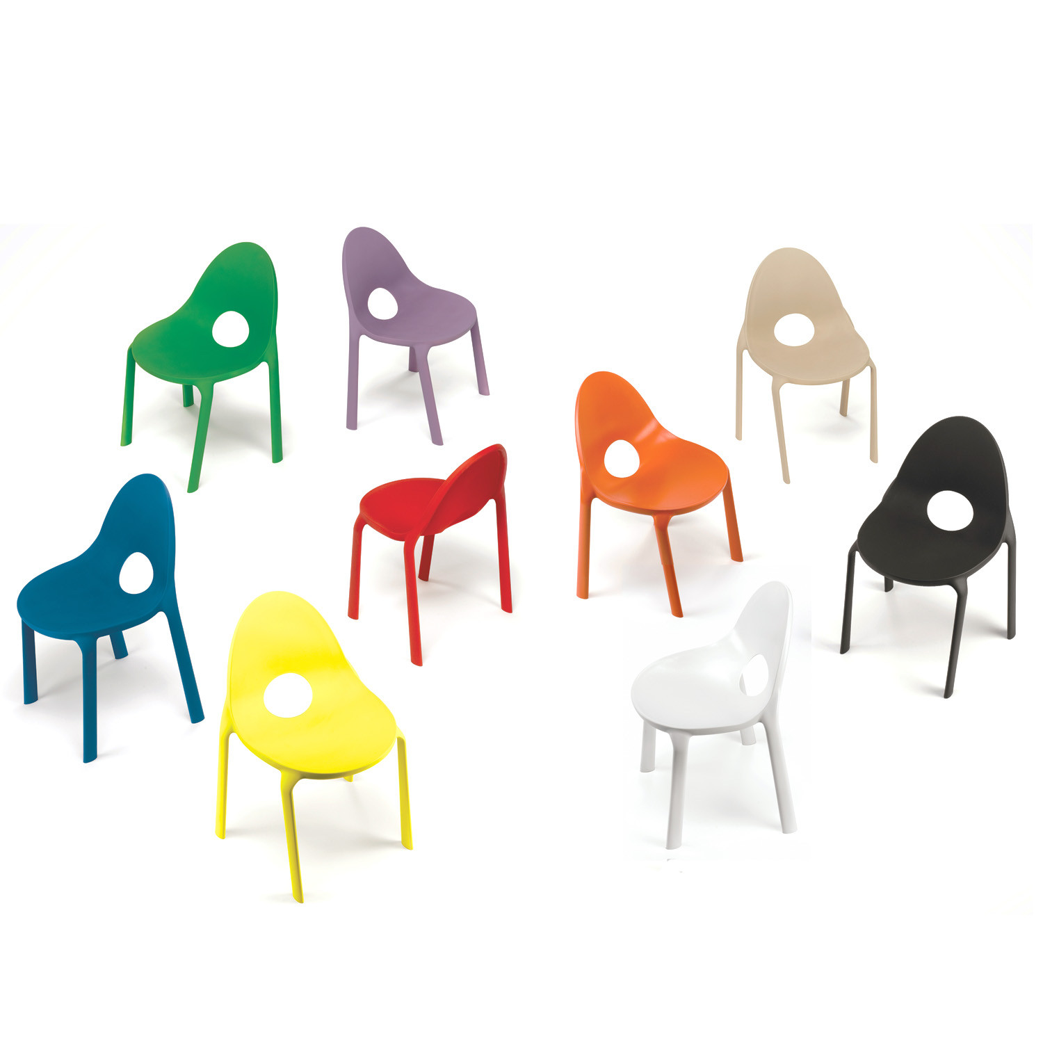 Drop Stacking Chairs Colour Range