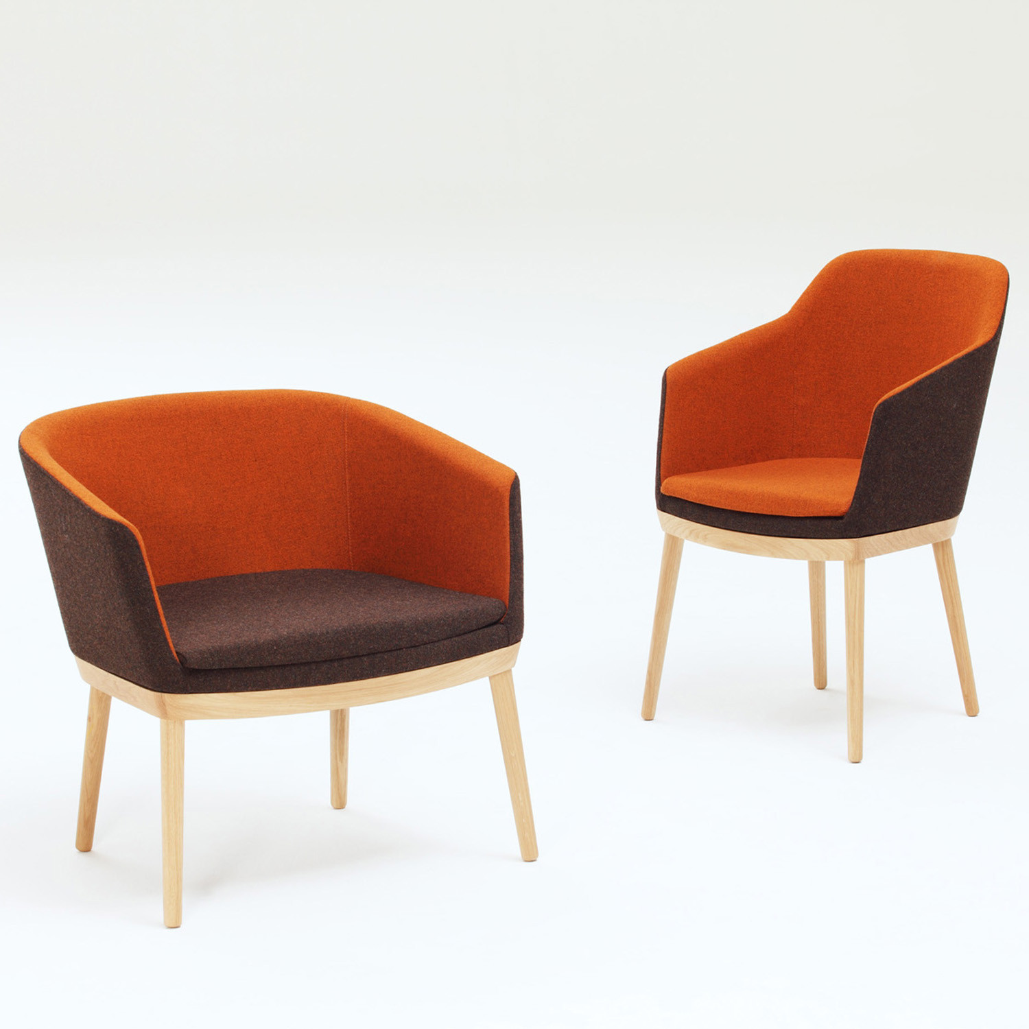 Drum Armchairs - Low and High Back Chairs