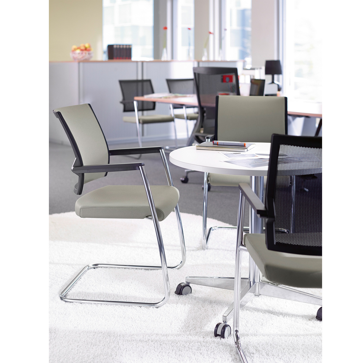 Duera Cantilever Office Chairs from Klober