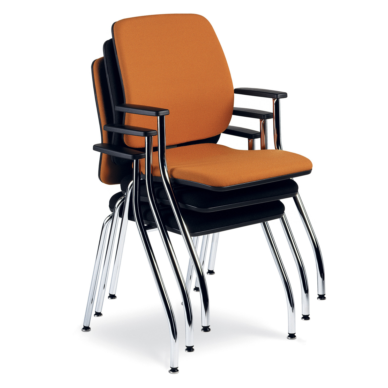 Early Bird Stackable 4-leg Visitors Chairs