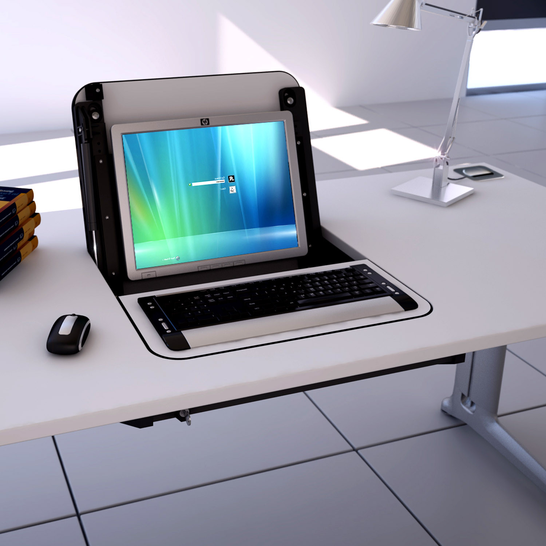Screenbox Desk by Elite