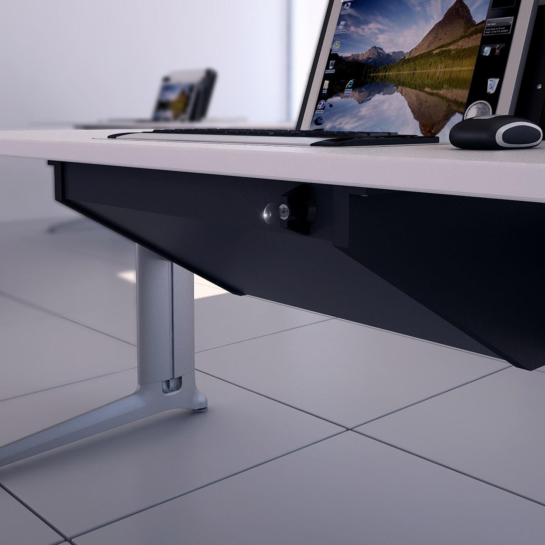 Screen Box Desk legs detail