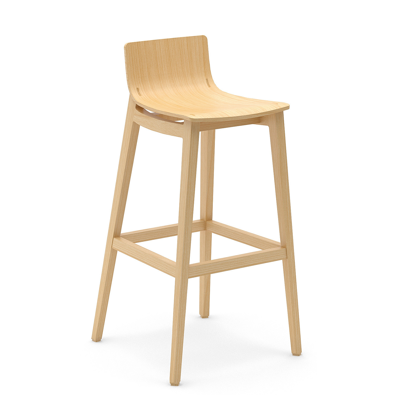 Emma Wooden Bar Stool