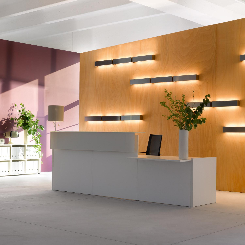 Factory Modular Reception Desks | Sinetica | Apres Furniture