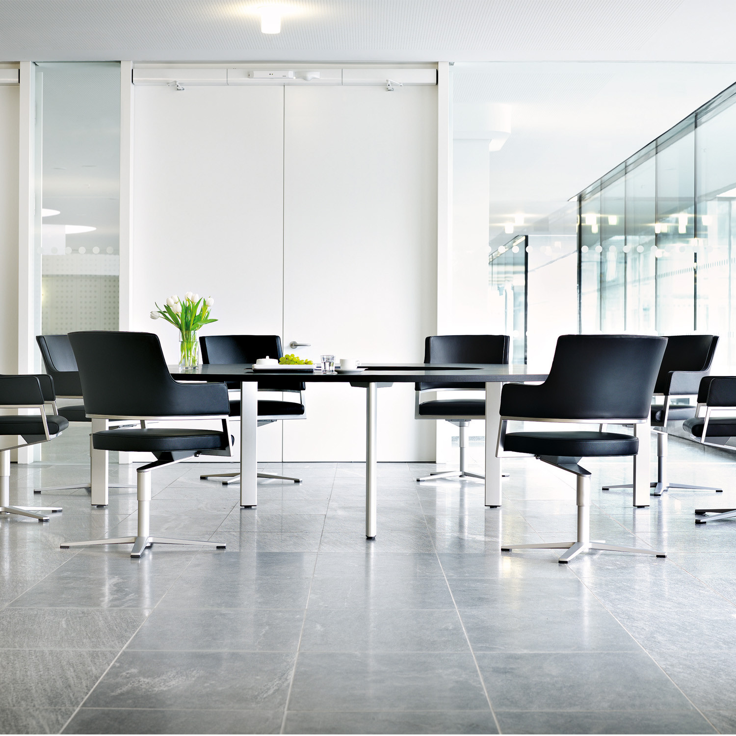 State Conference Tables with Tempuro Chairs