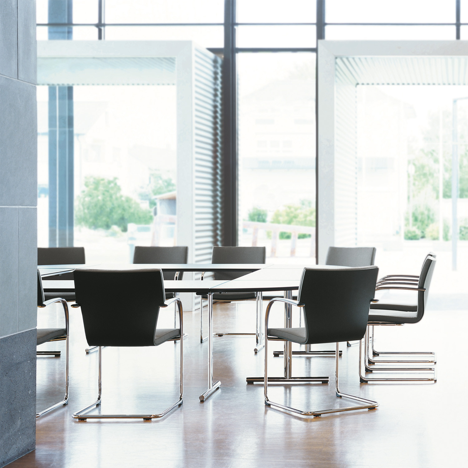 State Conference Table with Verona Cantilever Chairs