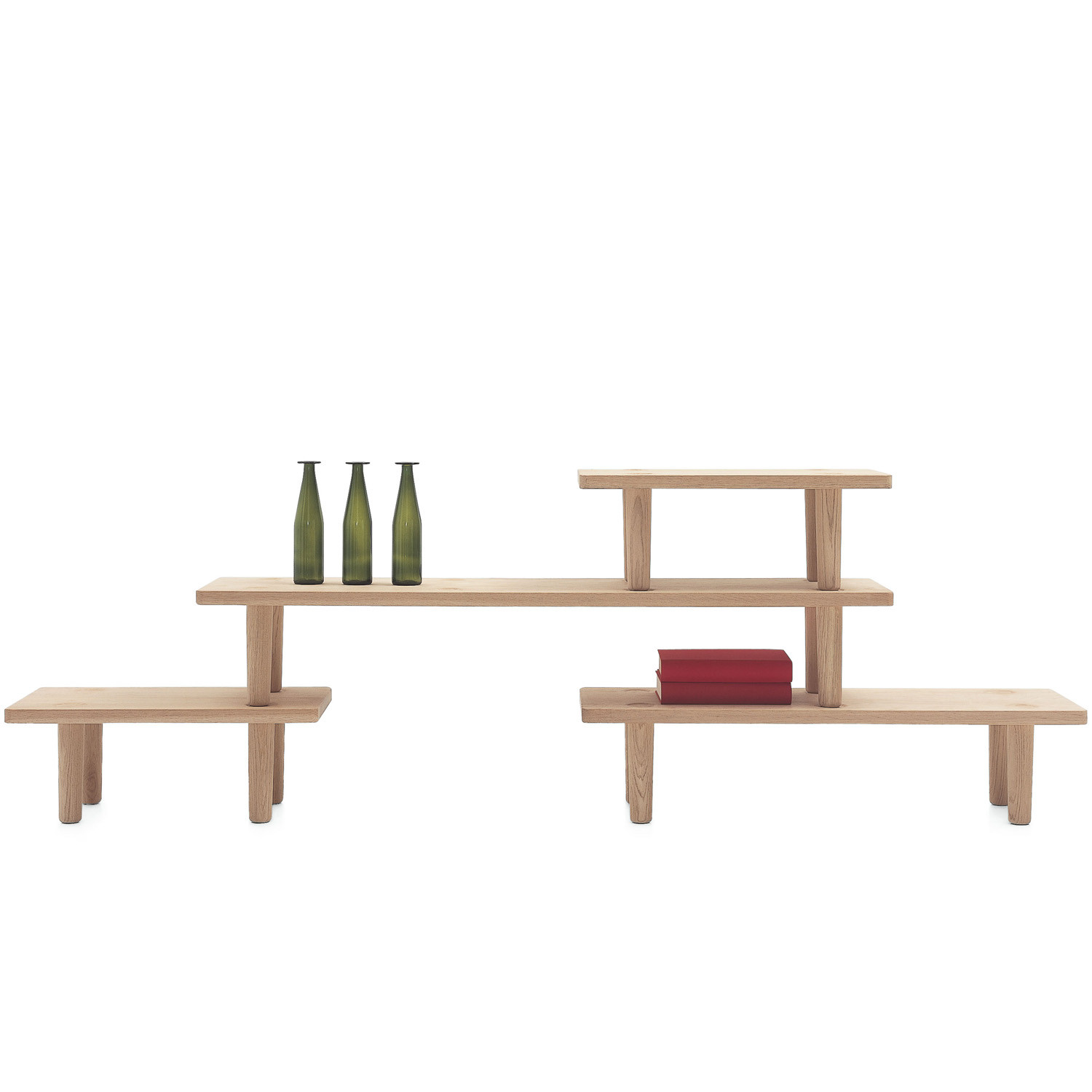 Oak Low Table Module by Cappellini