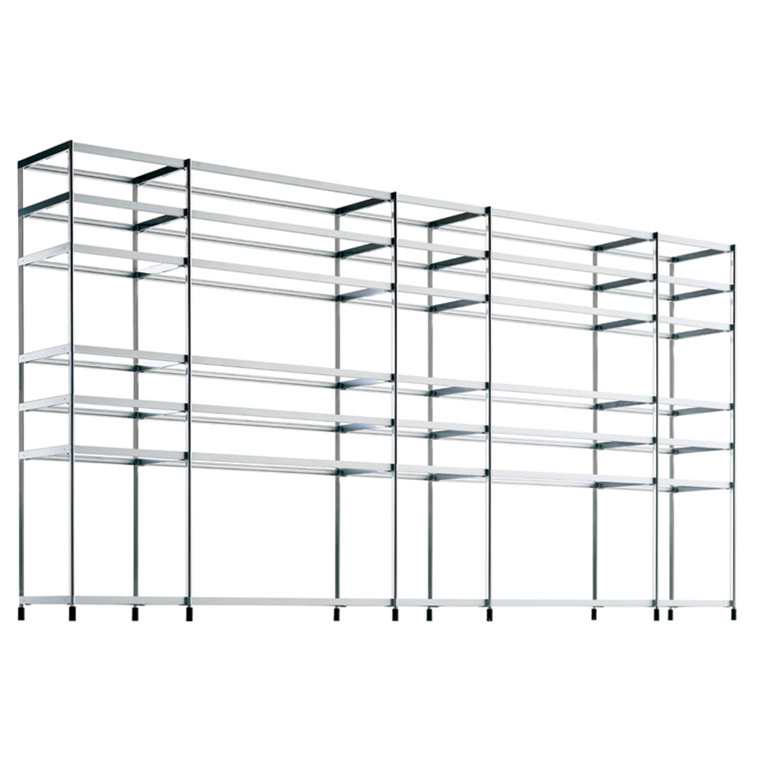 SEC Bookshelf structure is made of extruded aluminium