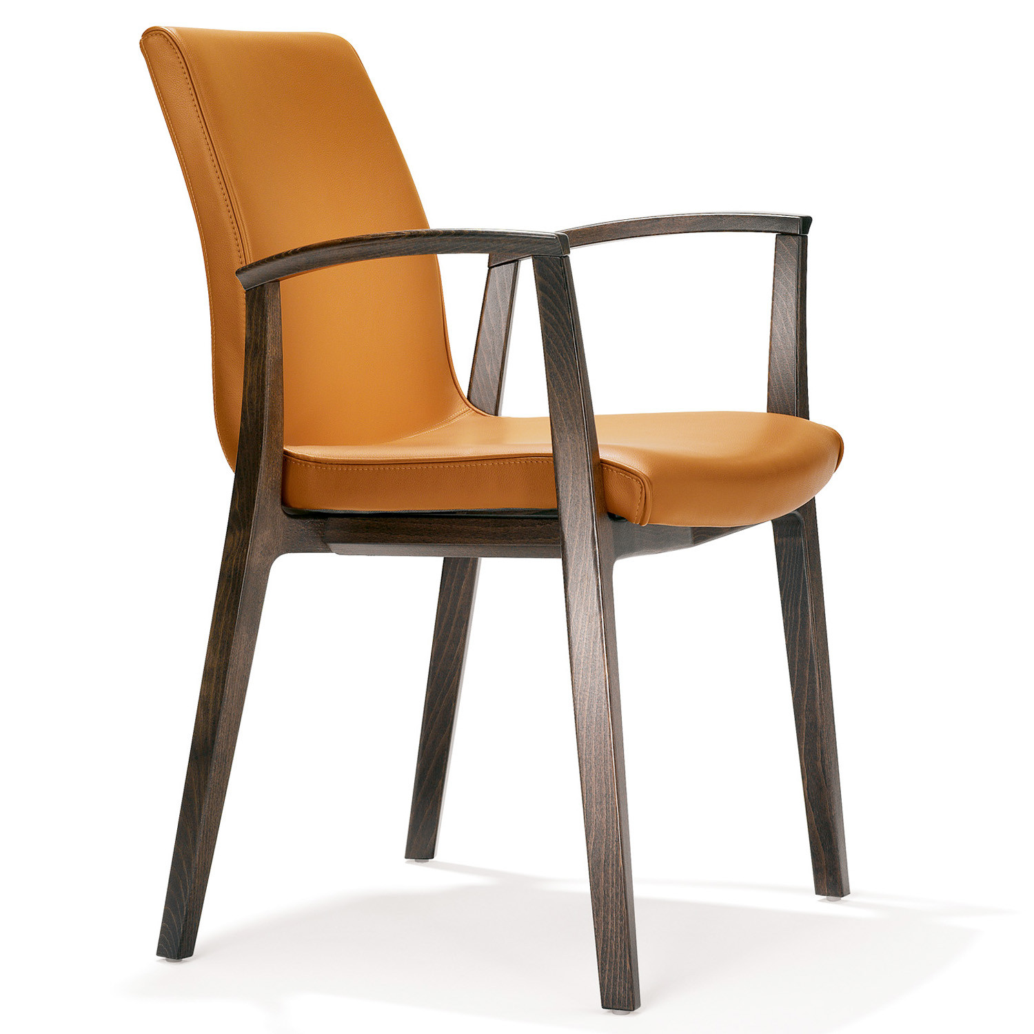 3500 Yara Wooden Frame Leather Upholstered Chair