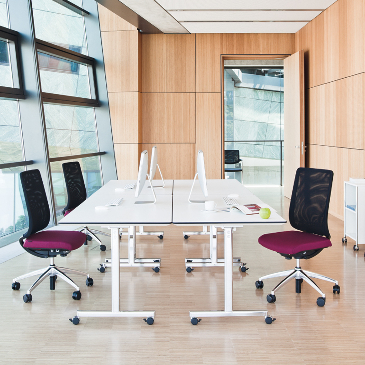Torino Flip Tables are a f;lexible solution for the office