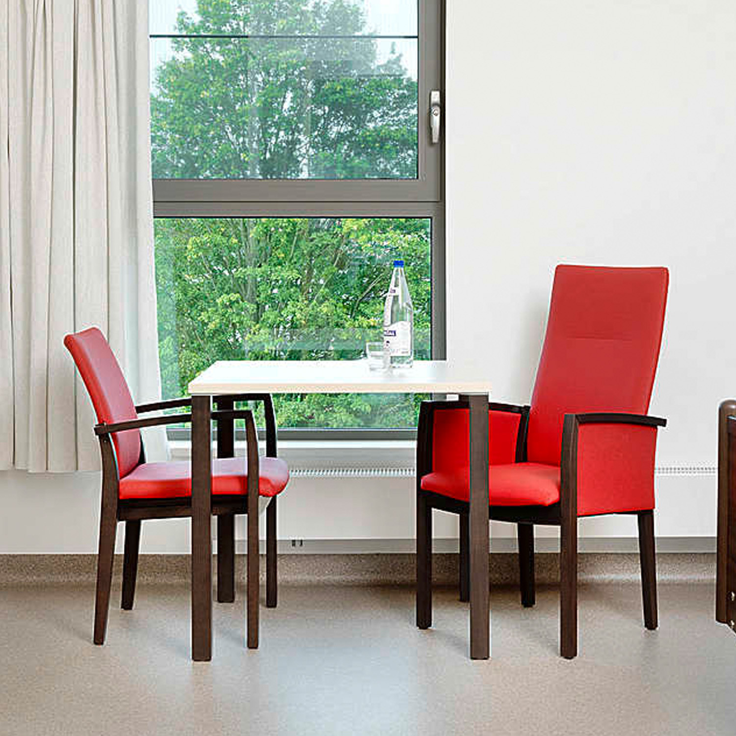 3700 Palato ArmchaIrs are available with upholstered and non upholstered armrests