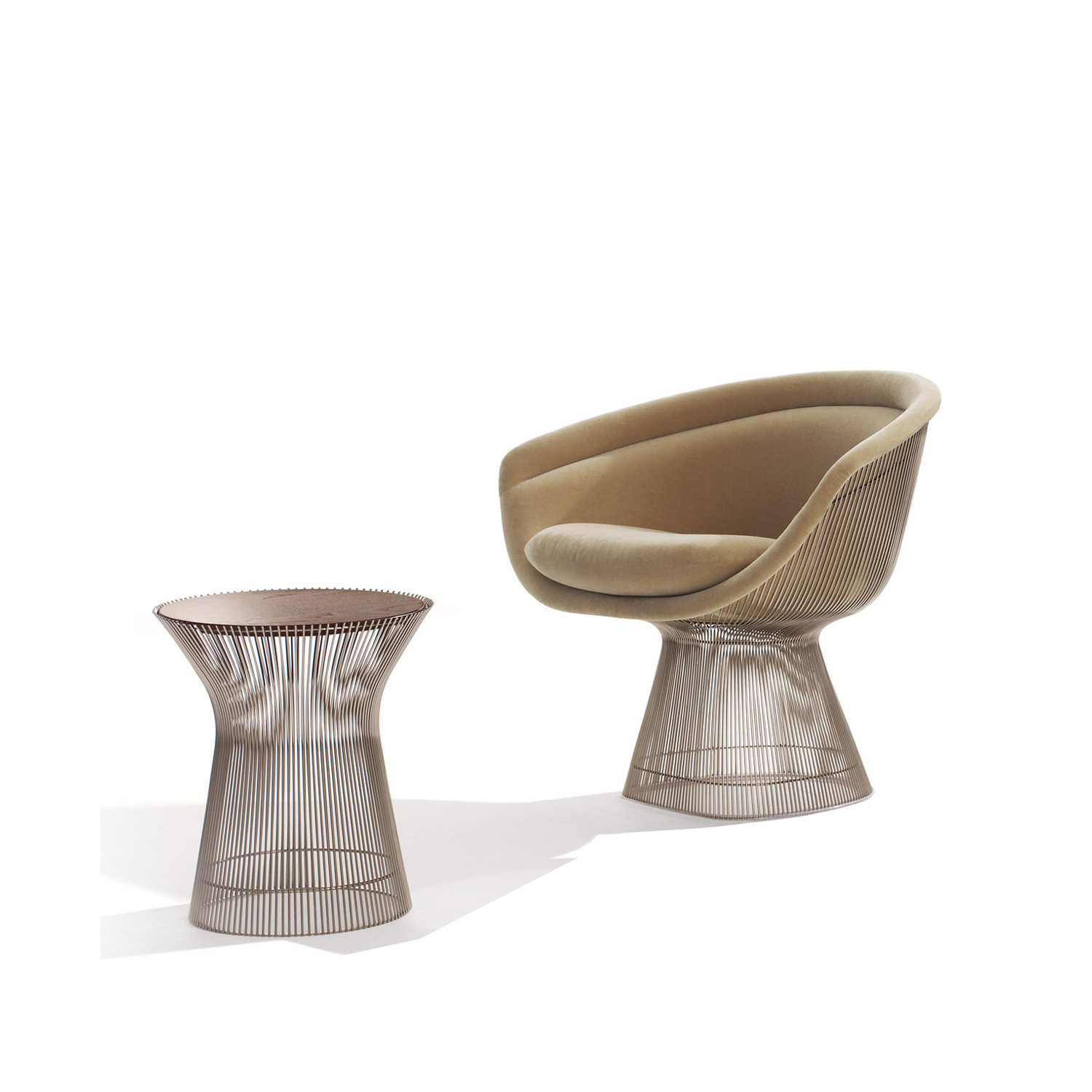 Platner Lounge Chair & Table