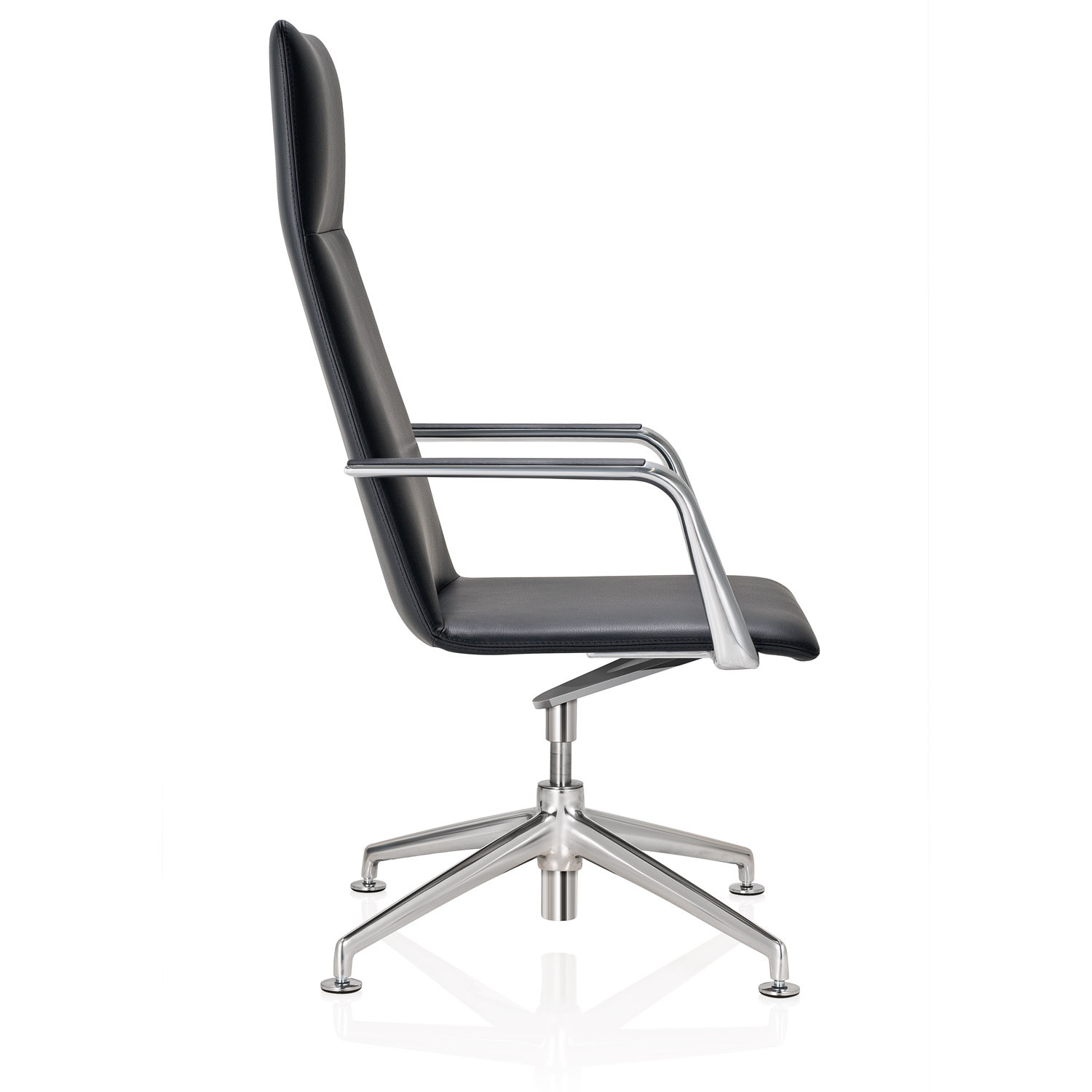 FinaSoft Conference Swivel Chair with Glides