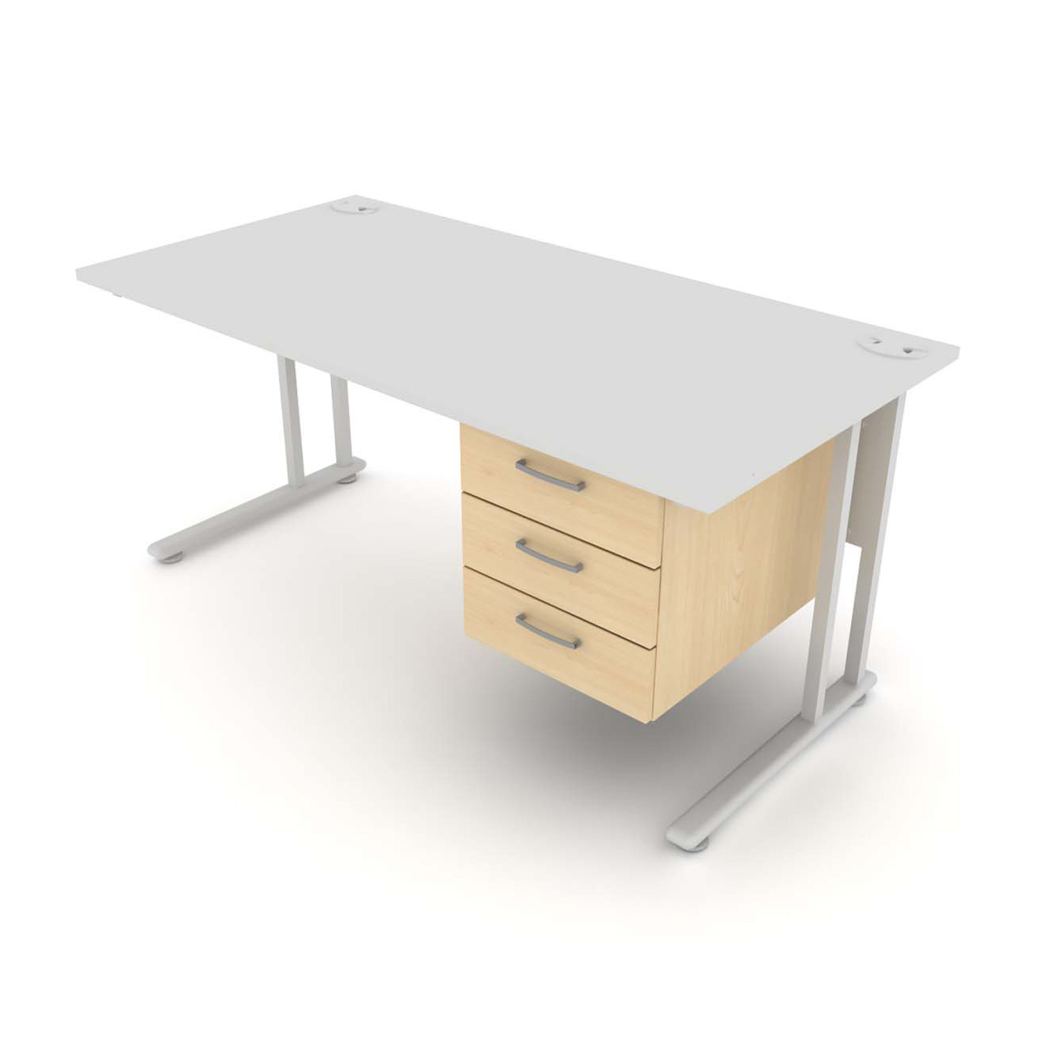 Flexi Desk with 3 drawer pedestal