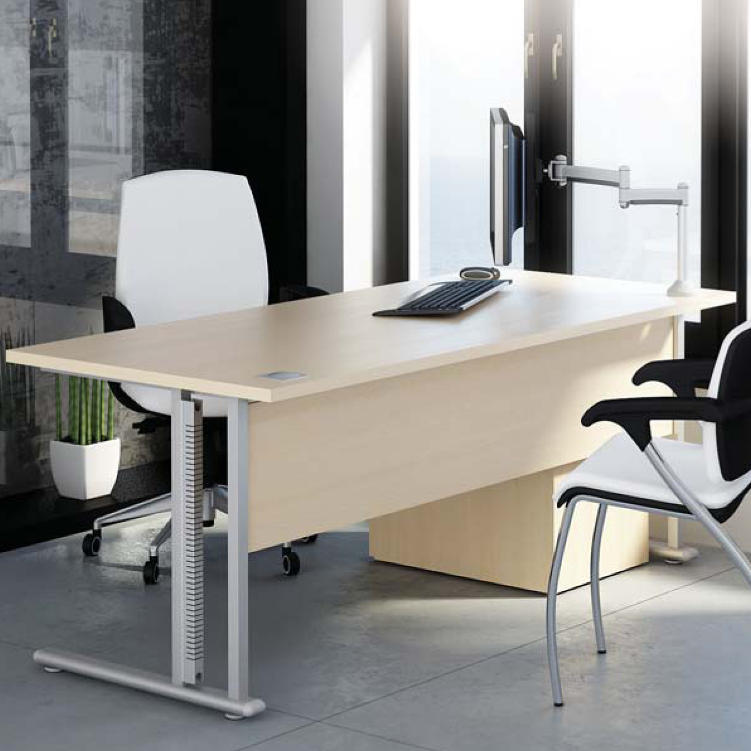Flexi Home Office Desk with modesty panel