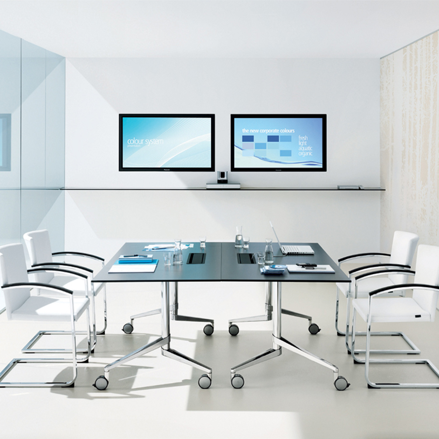 Flex Folding Meeting Tables by Wiesner Hager