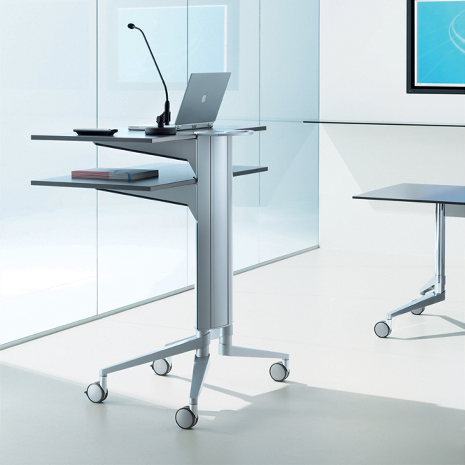 Flex Lectern Media Trolley by Wiesner Hager