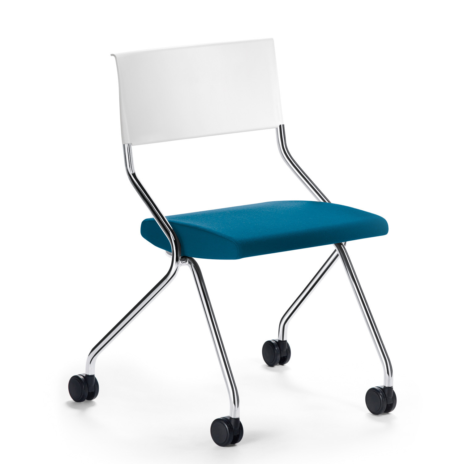 Flip Flap Upholstered Training Chair with white back