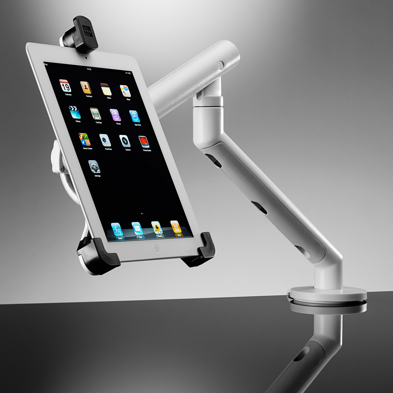 Flo Monitor Arm Holding iPad