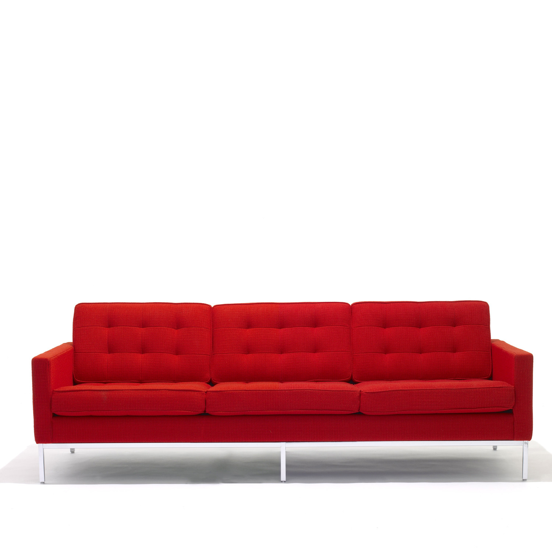 Florence Knoll 3 Seat Sofas