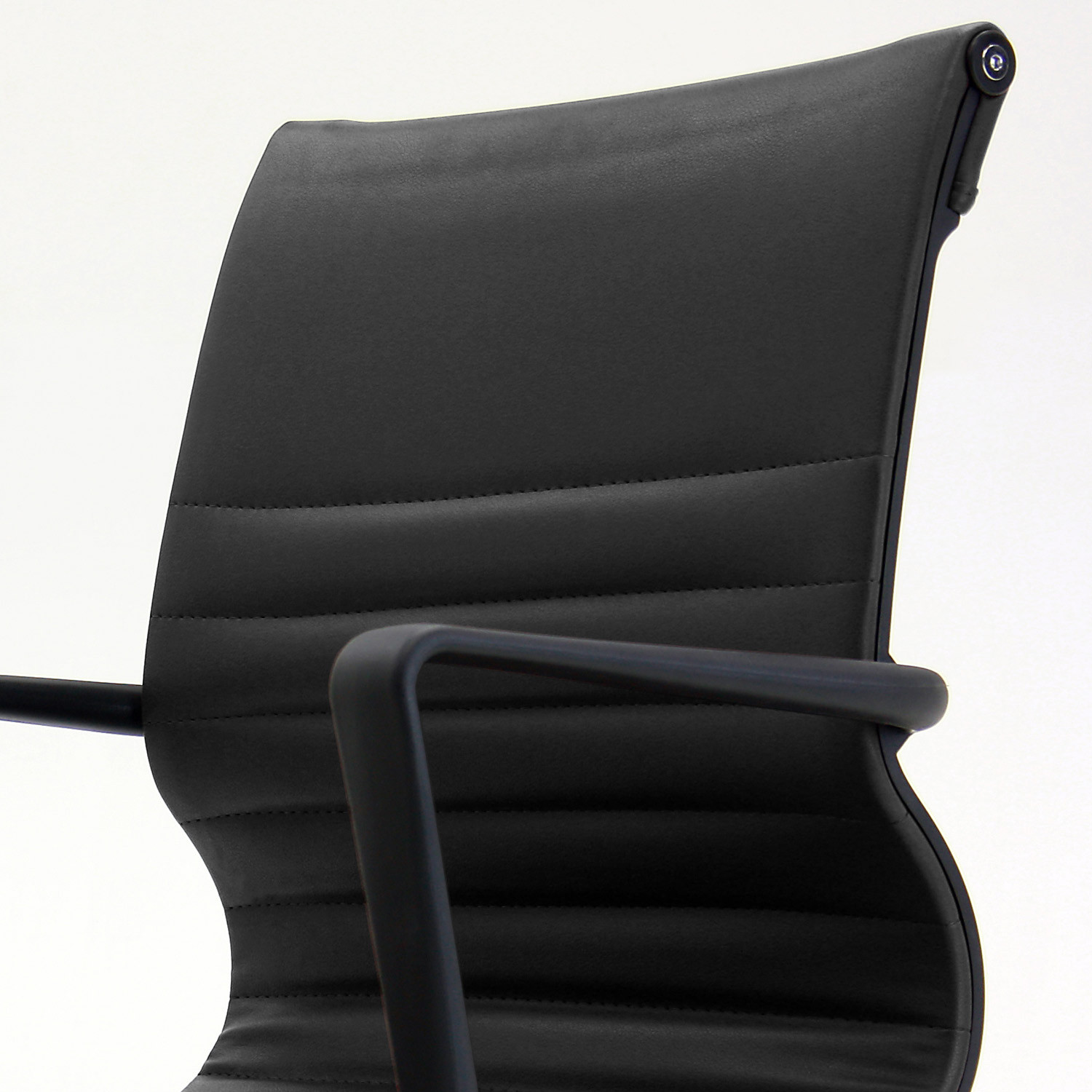 Flux Ribbed Faux Leather Chair Detail