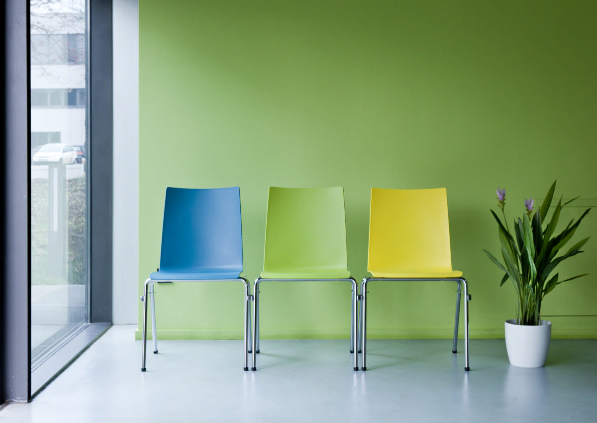 Fox Plastic Chairs with Integrated Row Linking