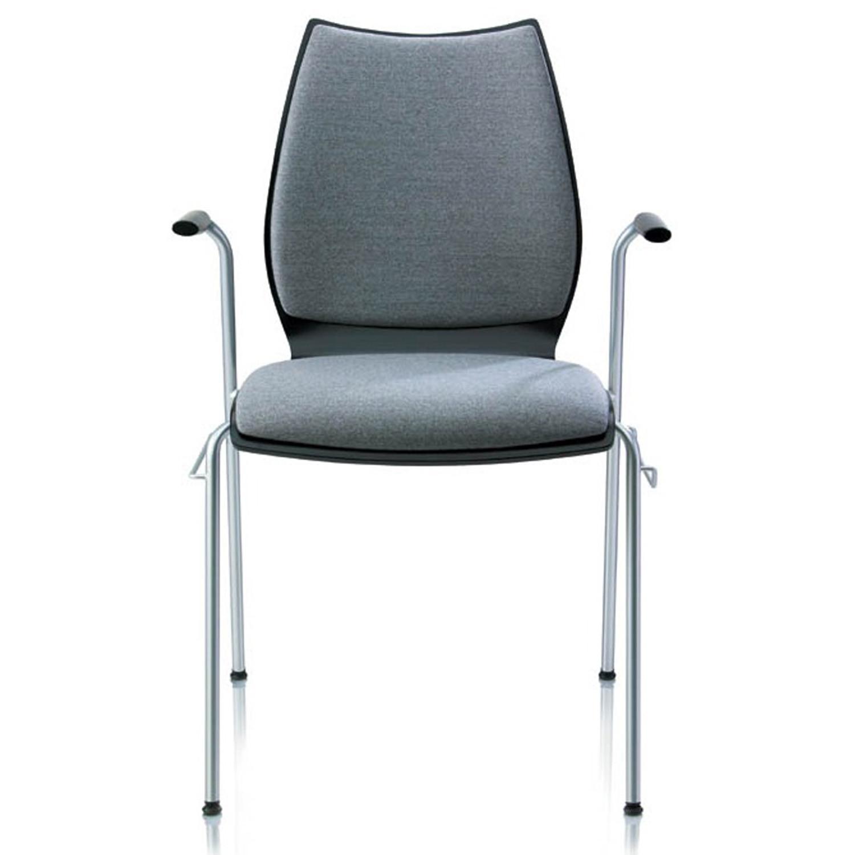 Fox 4-Legged Chair with Armrests