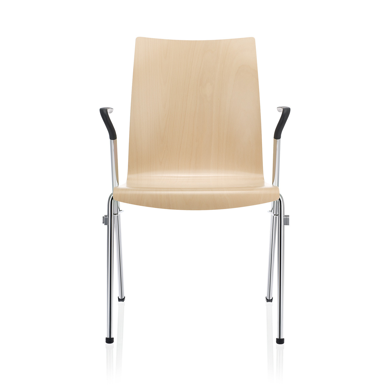 Tool 2 Chair with PUR Armrests in black