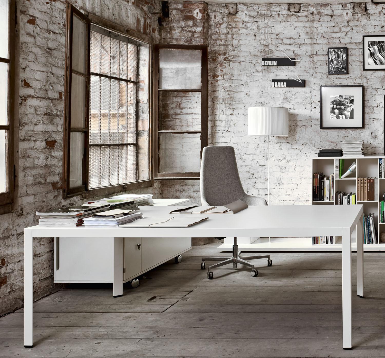 Frame Plus Executive White Office Desk