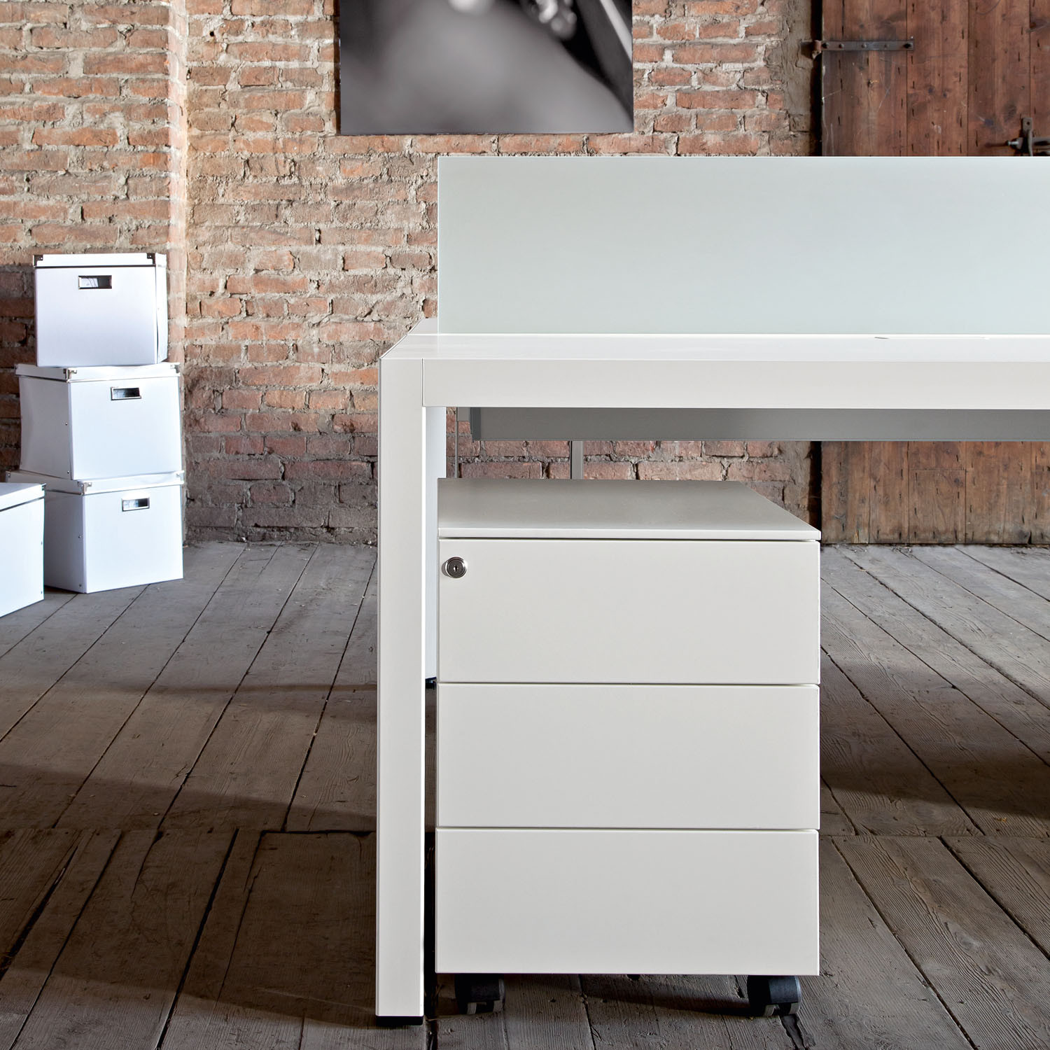 Frame Plus Bench Desk Pedestal by Sinetica