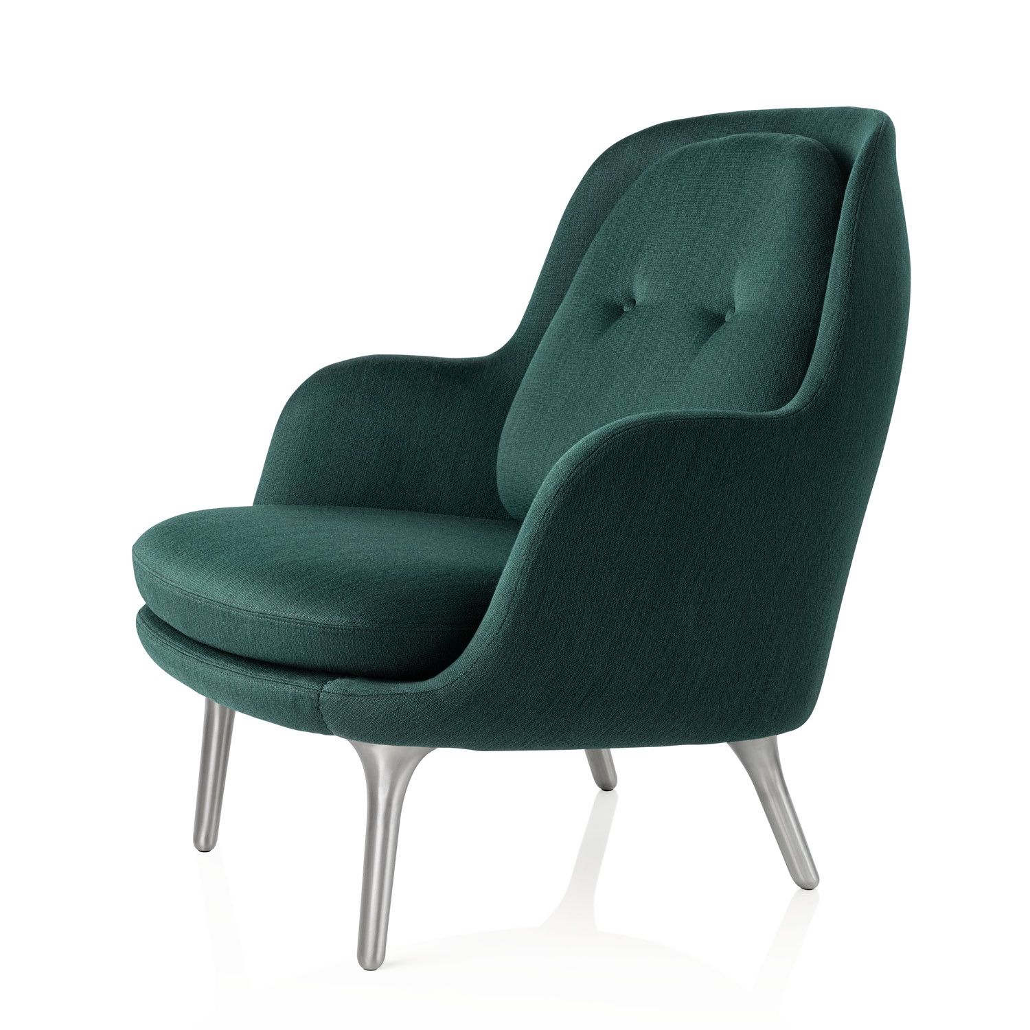 Fri Easy Chair in Green Fabric