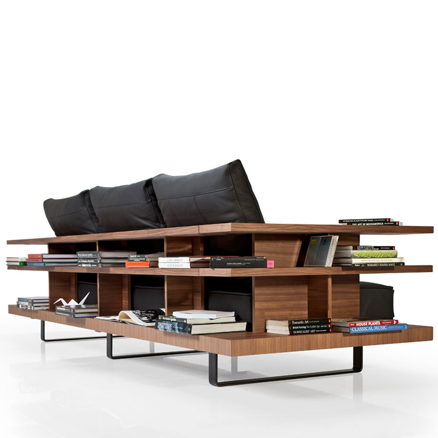 Gazel Sofa with Wooden Bookshelving