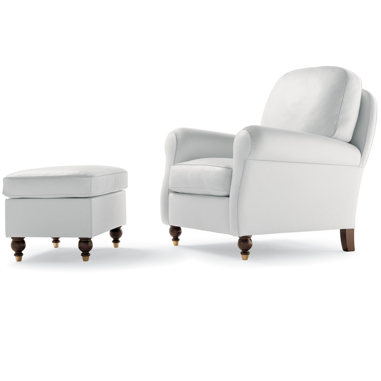 George Armchair and Footrest by Poltrona Frau