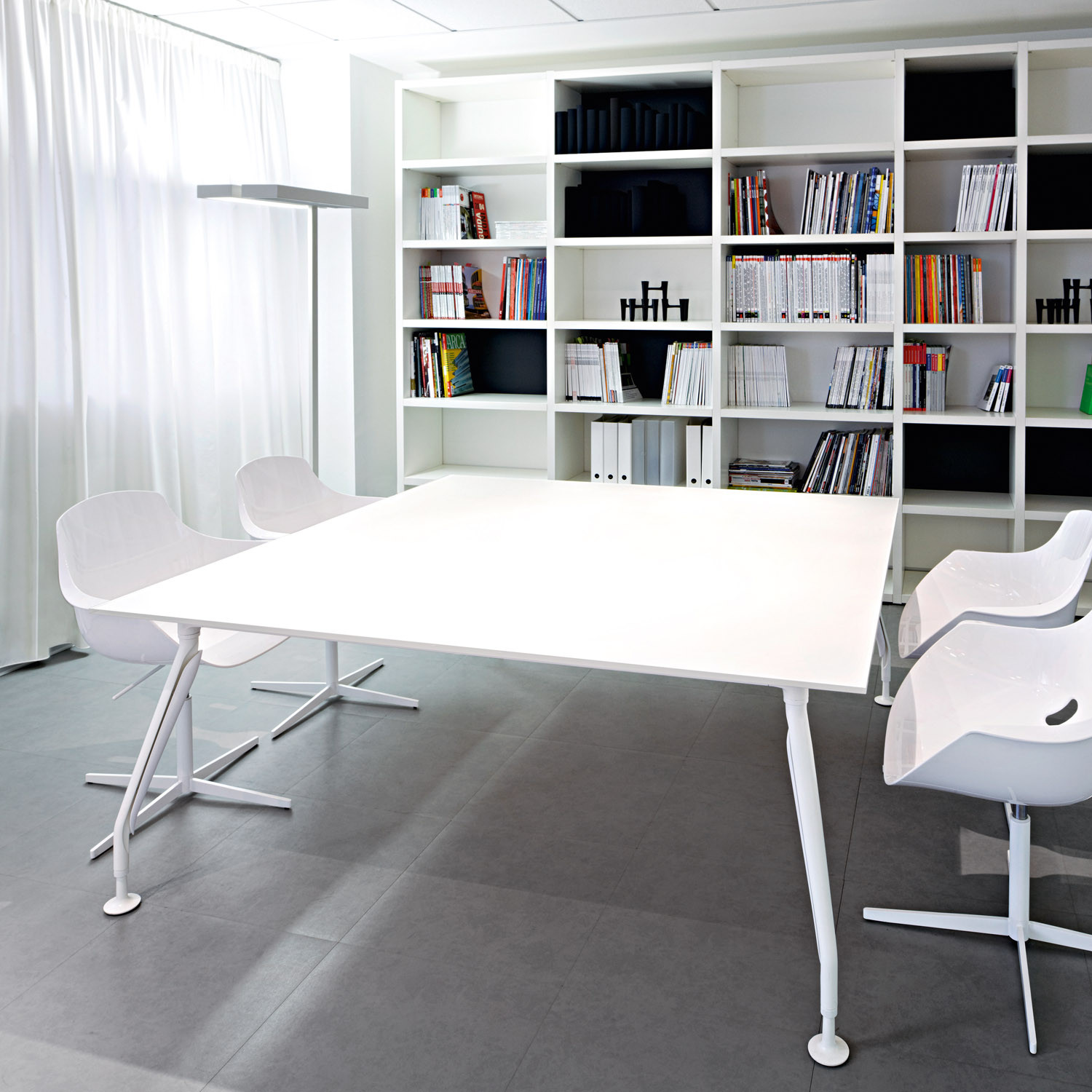 Libro Office Storage with Glamour Meeting Table