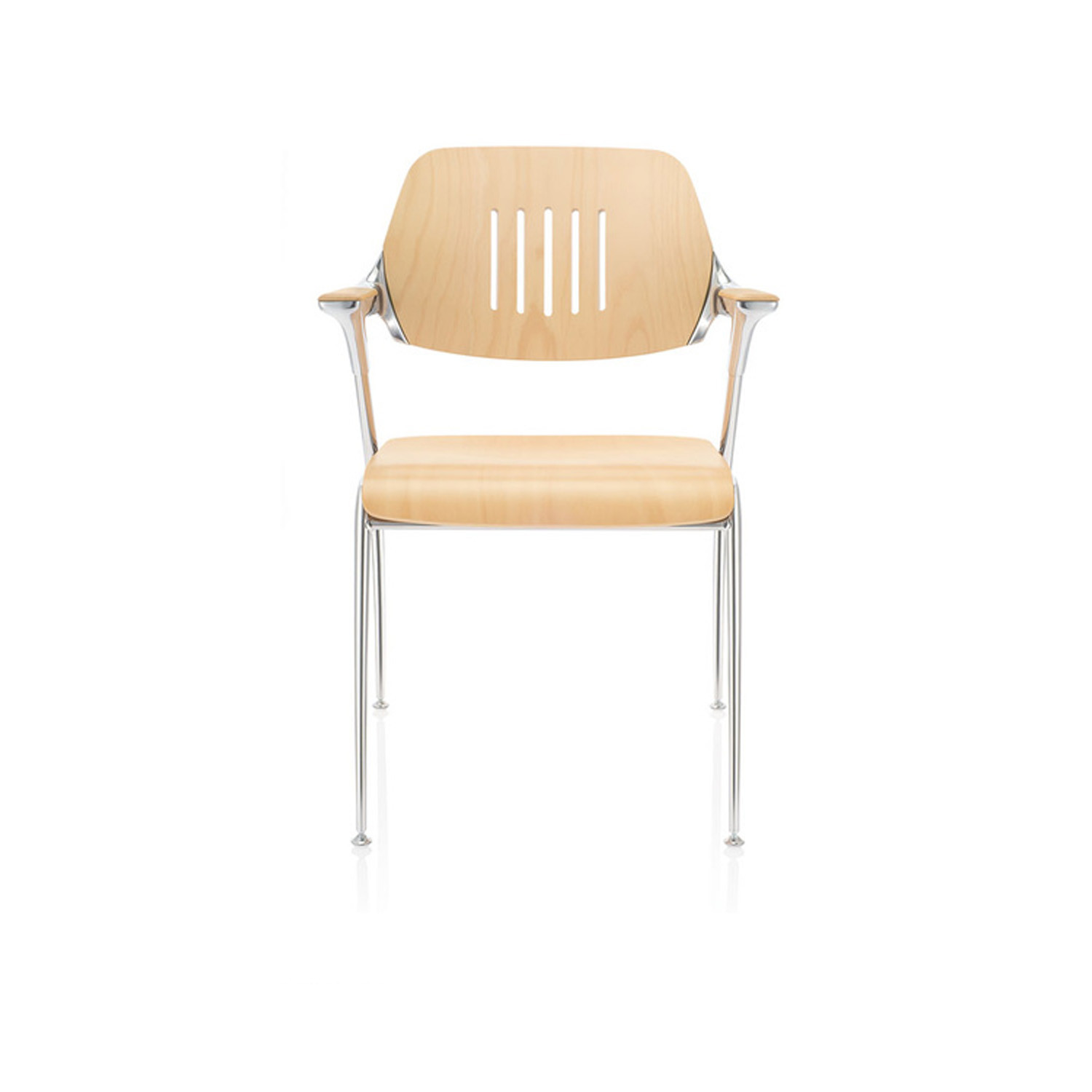 Golf Chair in solid beech with clear lacquer finish