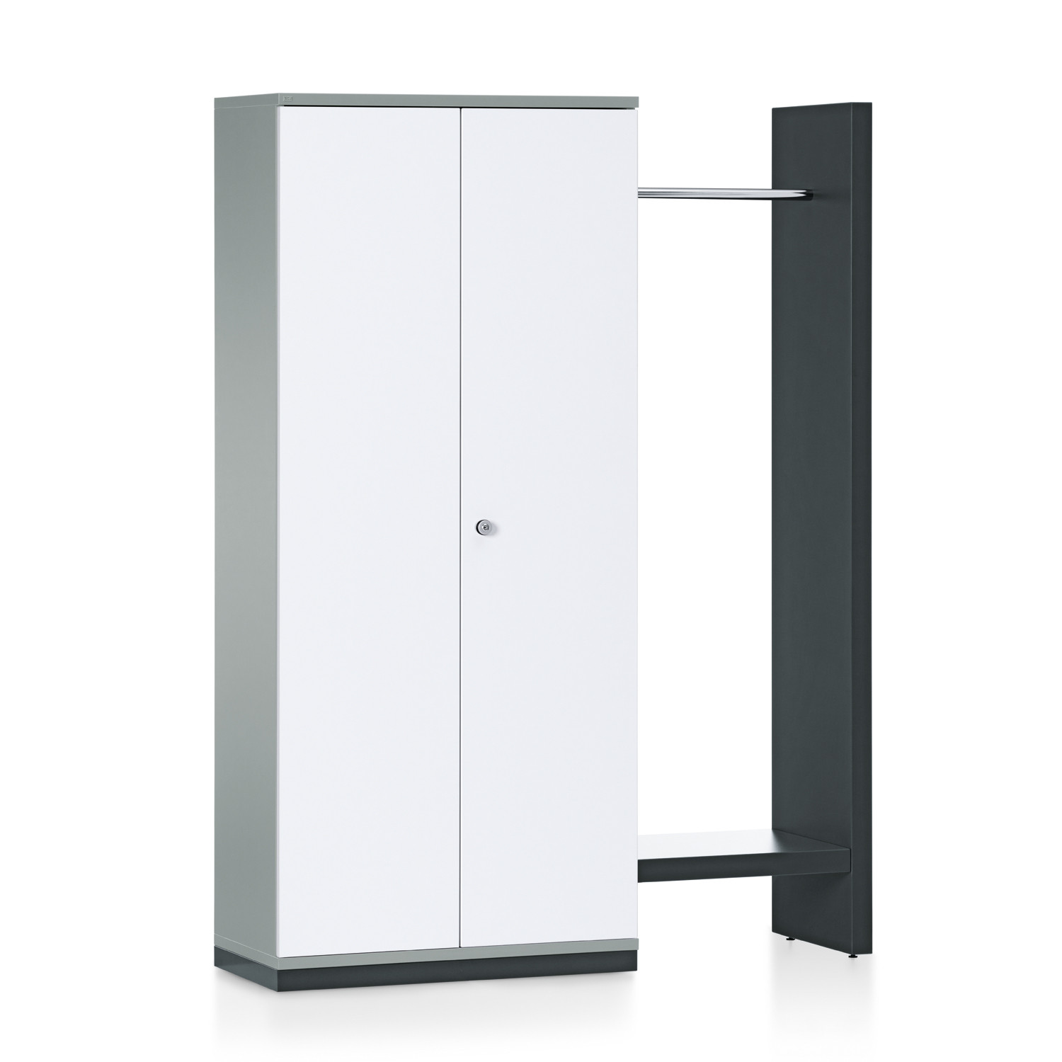 Grand Slam Hinged Door Storage Unit + Side Rack