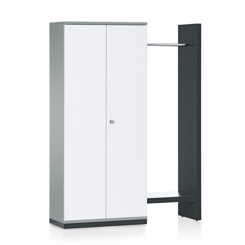 Grand Slam Hinged Door Storage Unit + Side Rack