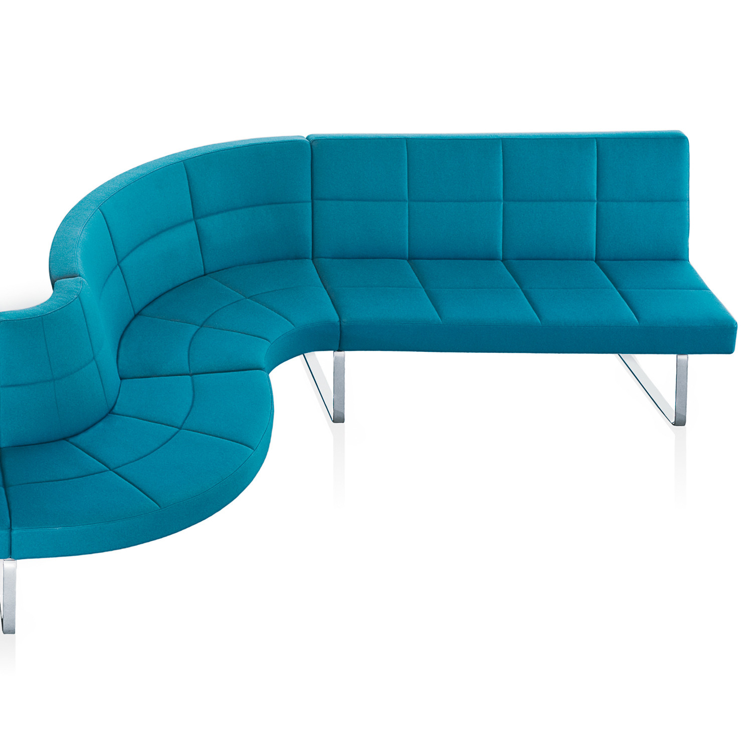 Grato Modular Seating with Sled-Base Frame