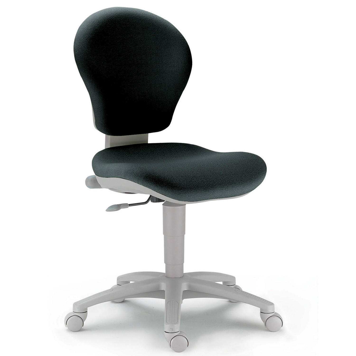 Gray Task Chair Without Armrests