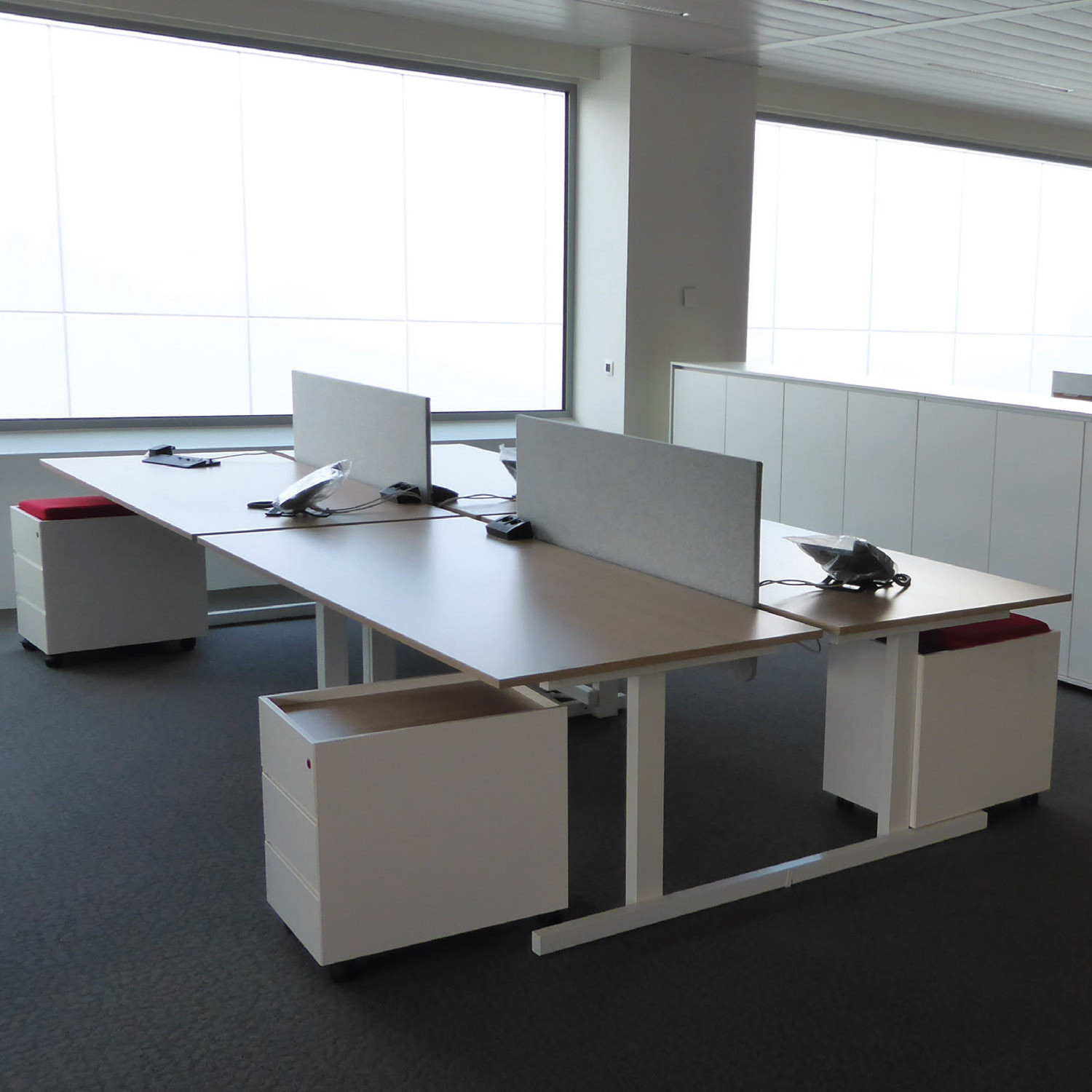 Grid Office Bench Desks