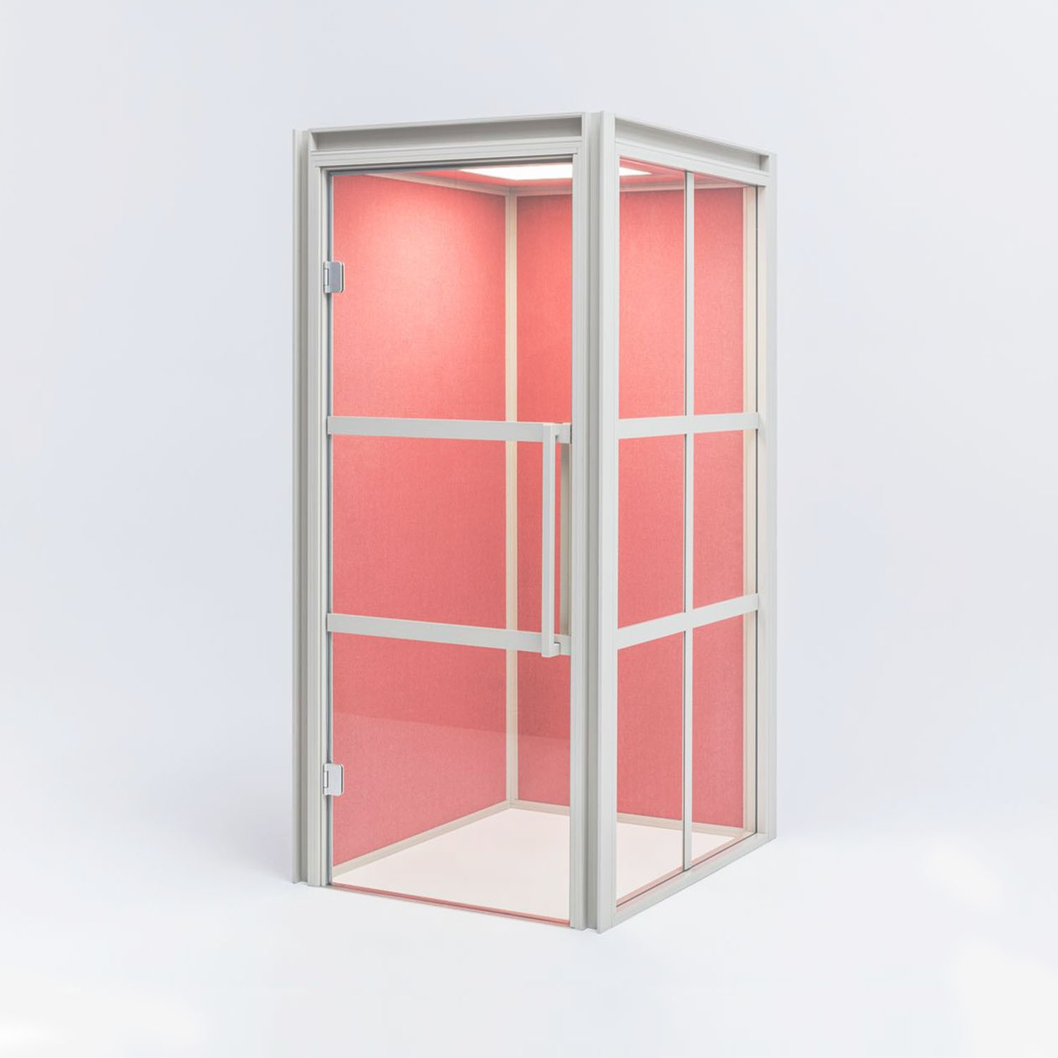 Hako Acoustic Phone Booth side angle Pink
