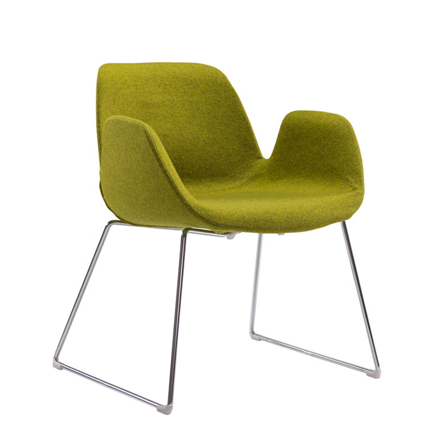 Halia Meeting Chair with Sled Base