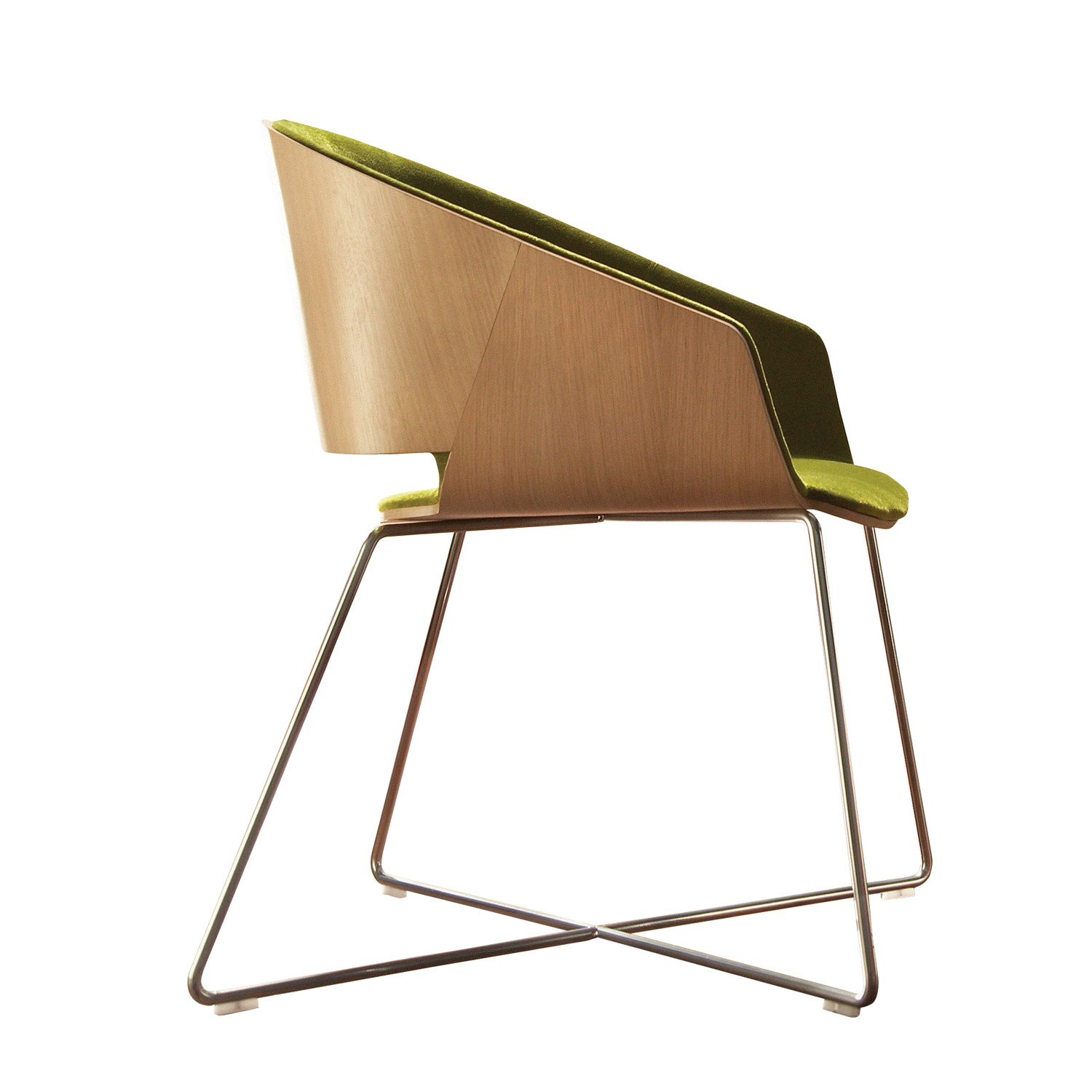 Halo Lounge Chair with Wire Base