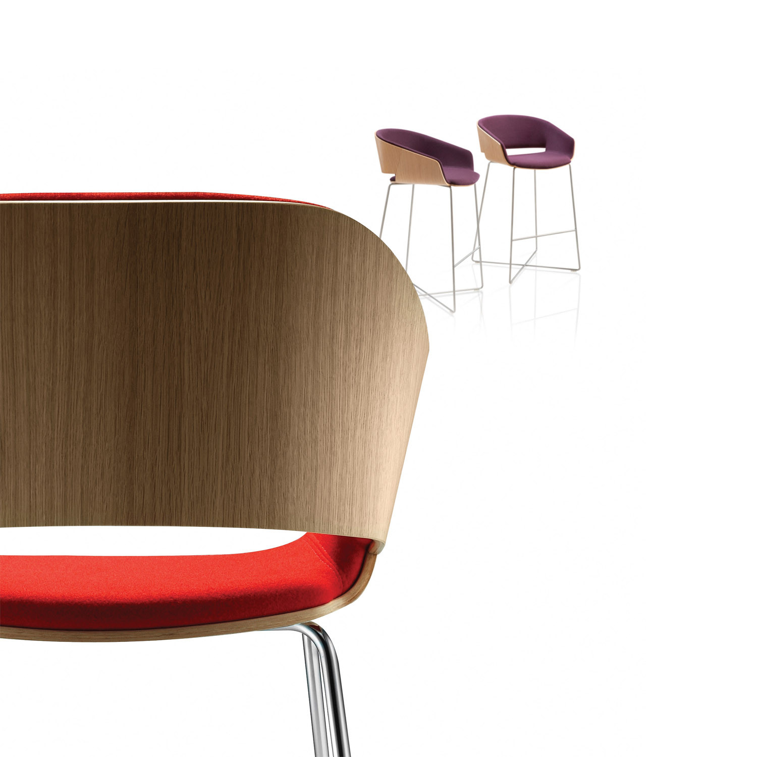 Halo Bar Height Stool by David Fox Design