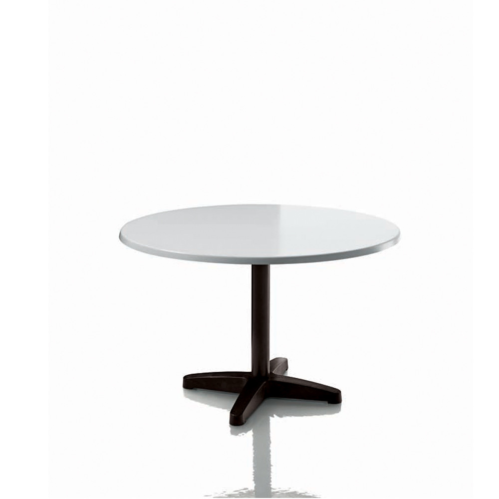 Happyhour Outdoor Table with Round White 9000 Tabletop