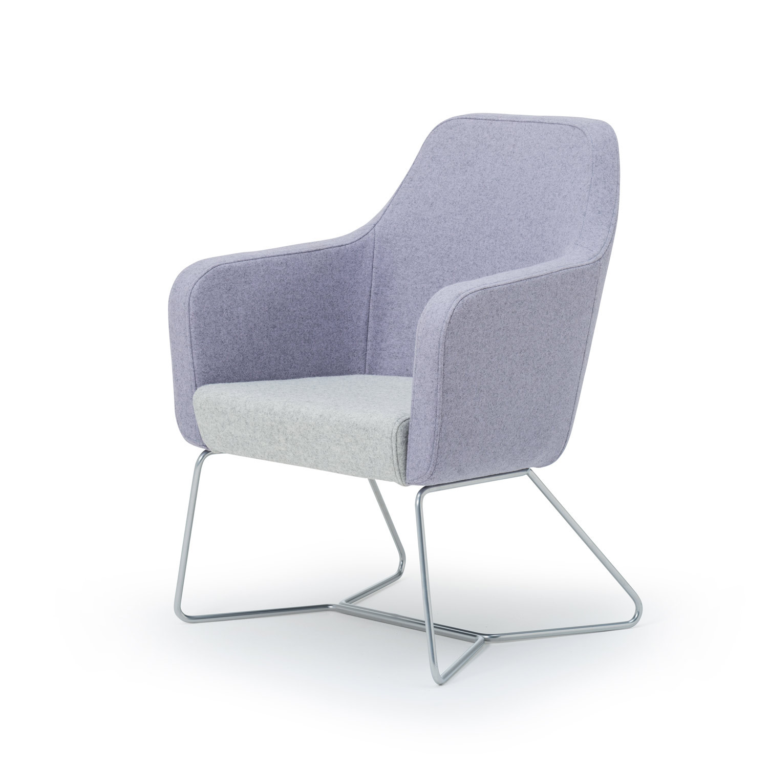 Harc Tub Chair With Skid Frame