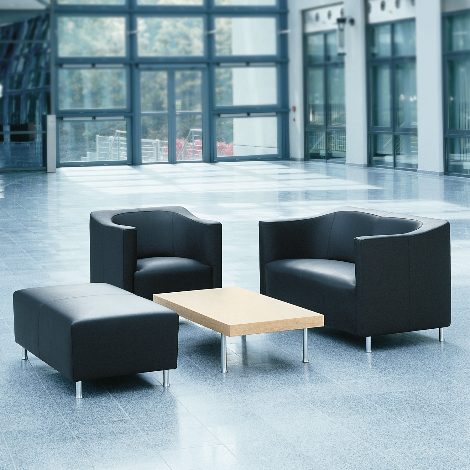 Havana Leather Reception Seating Range