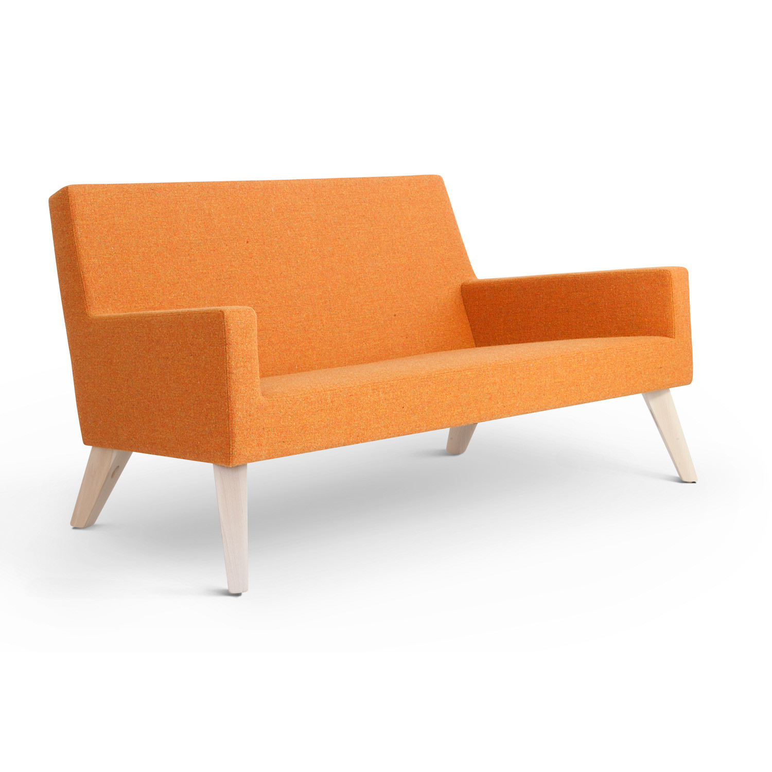 HM44 2-Seater Low Back Sofa with beech legs