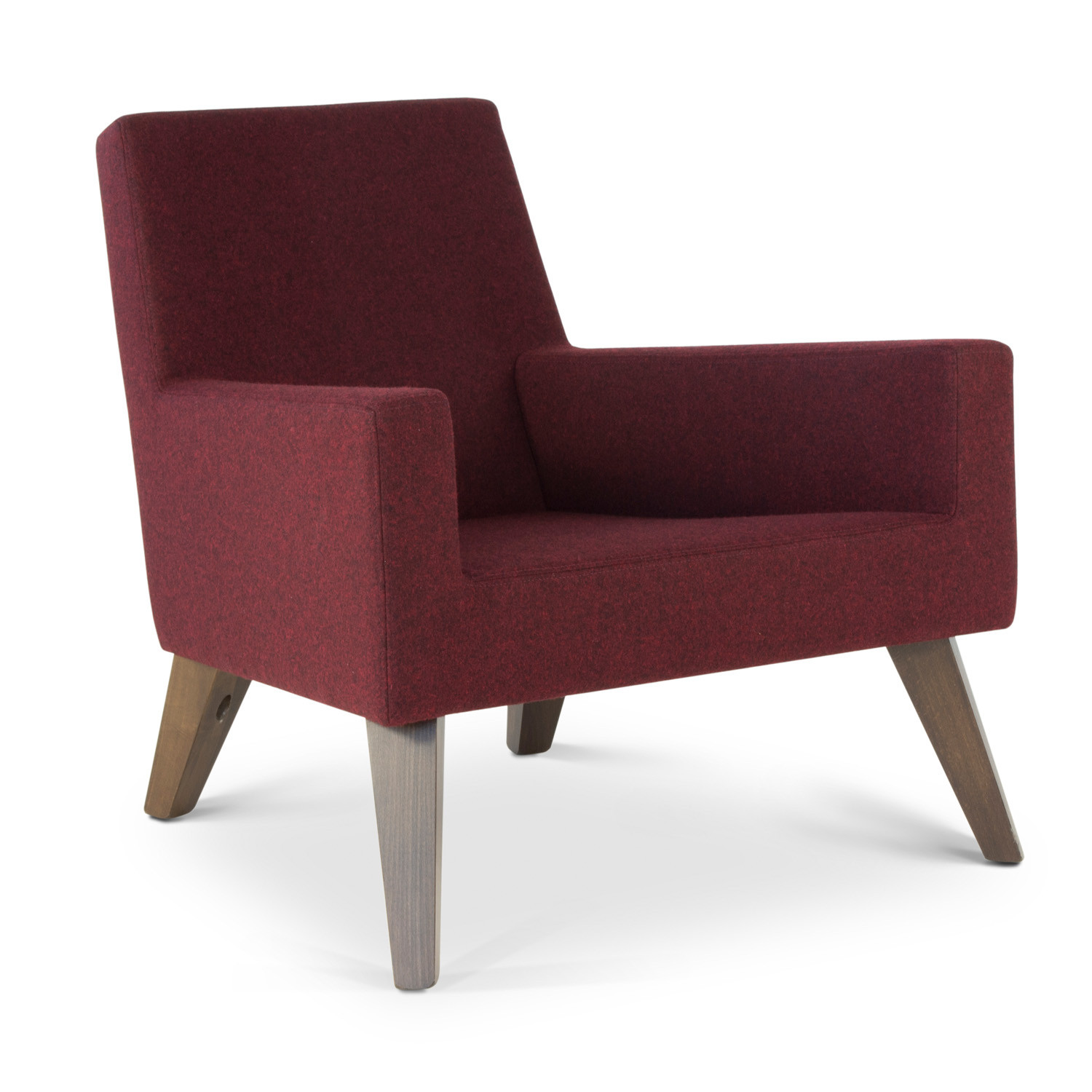 HM44 Low Back Armchair with beech legs