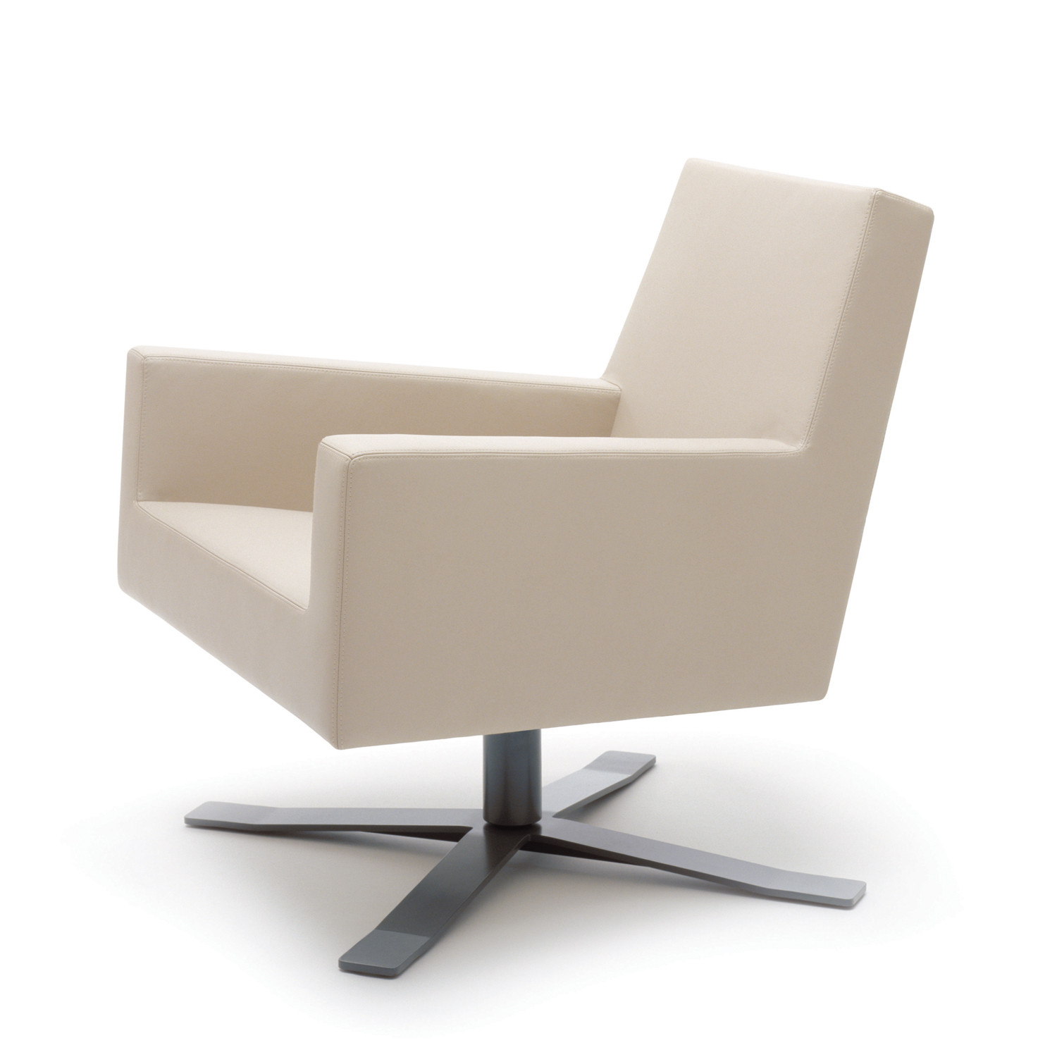 HM44 Low Back Armchair with self-centering swivel base